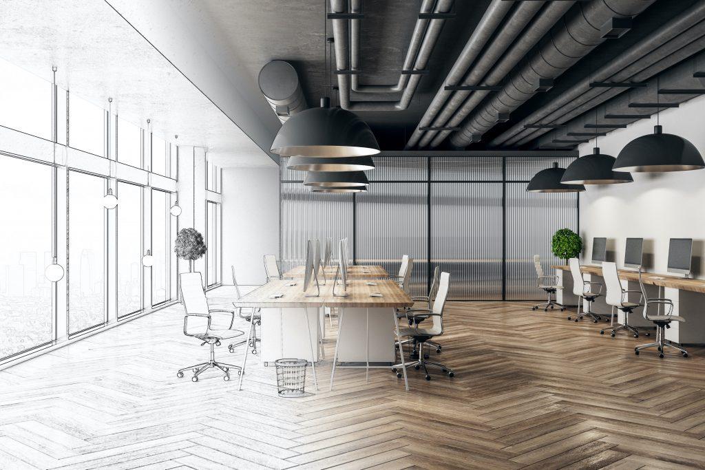 Diseño de iluminacion oficina